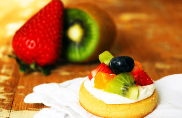 Mini pizzas de frutas