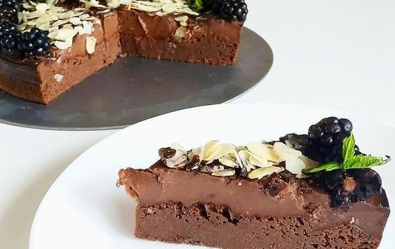 Tarta de brownie de calabacín