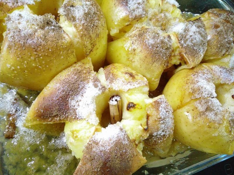 Crema de manzanas al horno