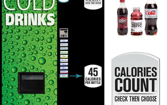 Máquinas expendedoras que informan de las calorías