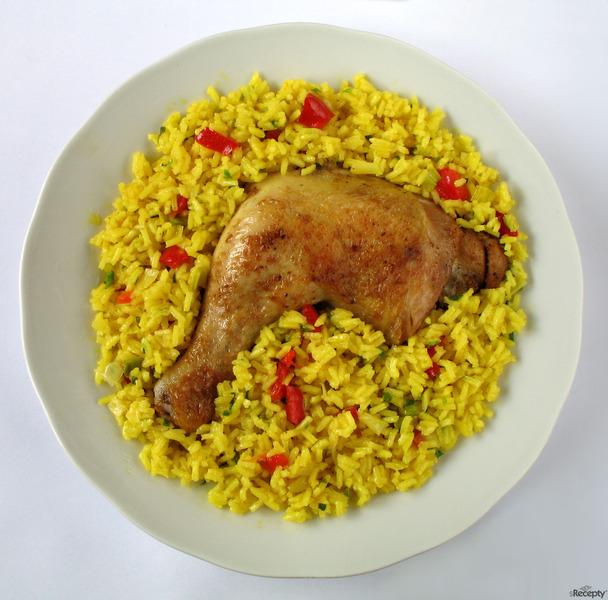 Paella con pollo