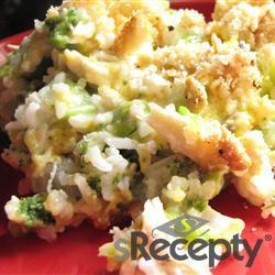 Quiché de arroz, brócoli y queso