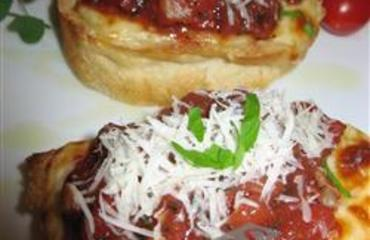 Bruschetta doble tomate