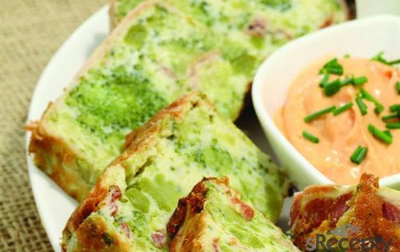 Terrina de brócoli y panceta