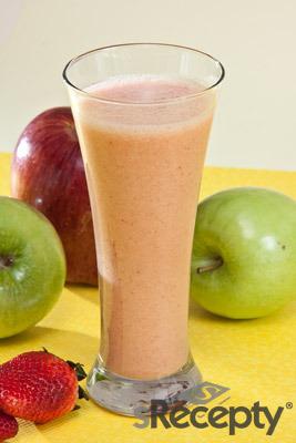Agua de frambuesa y manzanas