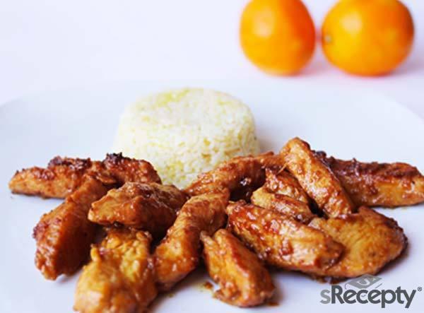 Pollo y arroz a la naranja