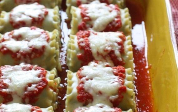 Rollos de lasagna y champiñones
